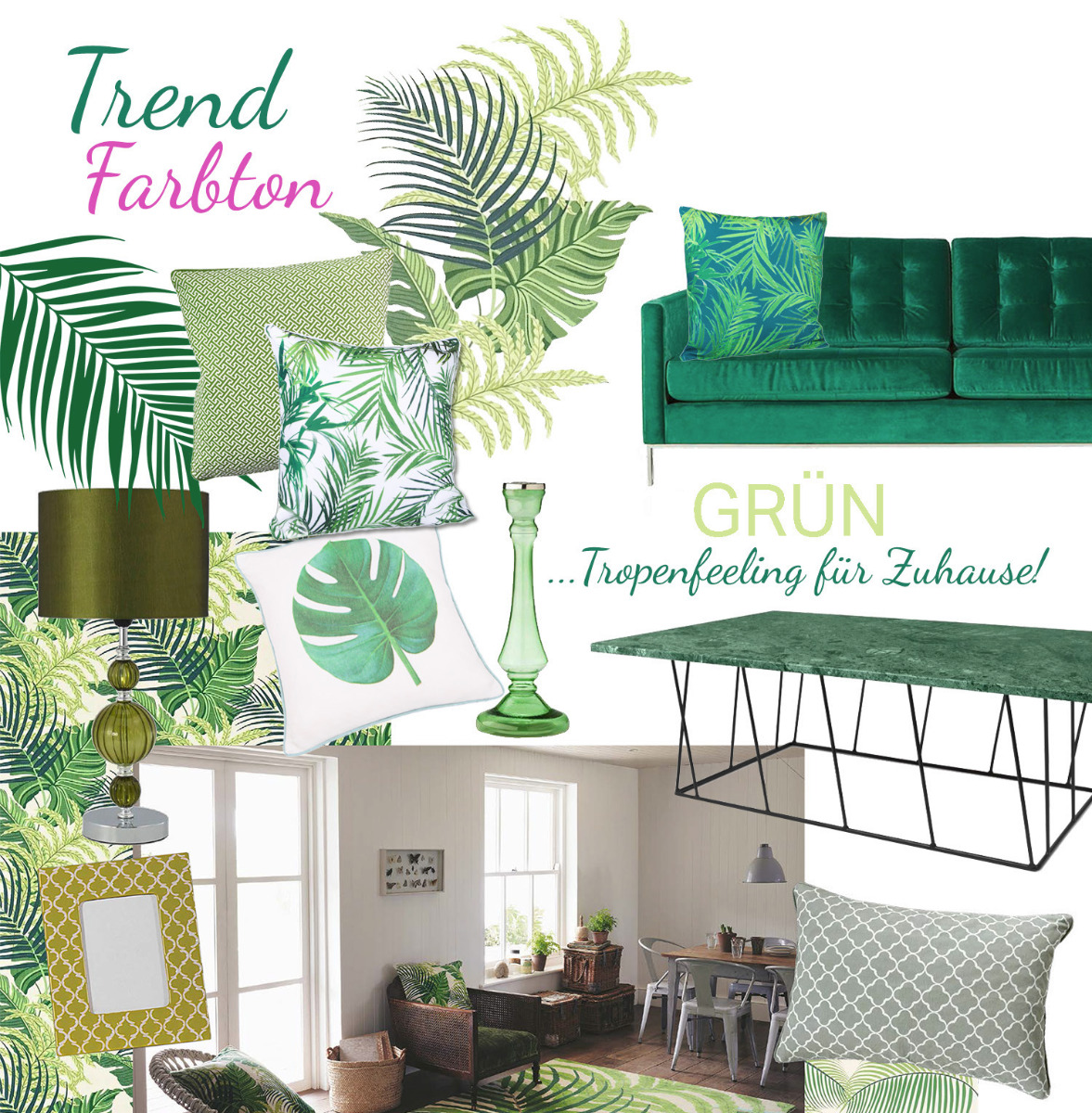 farbtrend gr n trend collections. Black Bedroom Furniture Sets. Home Design Ideas