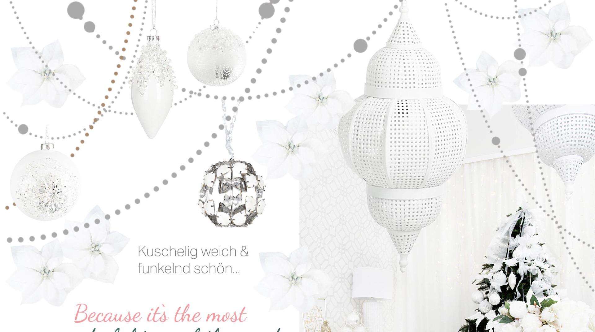 Schwarz Weiße Weihnachtsdeko.White Christmas Weihnachtsdeko In Purem Weiß Looks