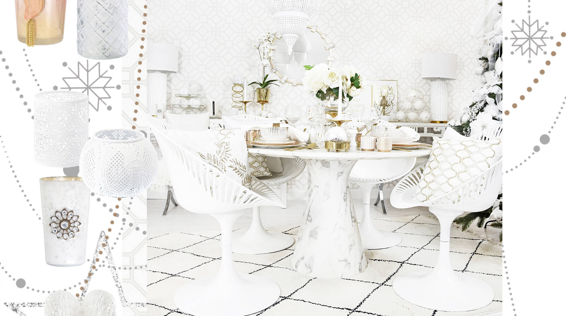 weihnachtslook 3 white christmas weihnachtsdeko in purem. Black Bedroom Furniture Sets. Home Design Ideas